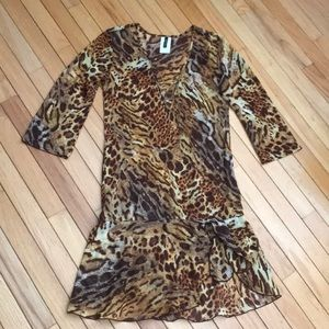Other - Animal print coverup